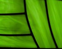 abstract ontwerp in gebrandschilderd glas in groene kleuren Royalty-vrije Stock Afbeeldingen