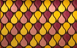Abstract ontwerp in gele en rode tonen Royalty-vrije Stock Fotografie