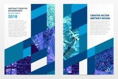 Abstract ontwerp grafisch malplaatje Stock Afbeelding