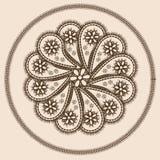Abstract ontwerp in Indische stijl Royalty-vrije Stock Fotografie