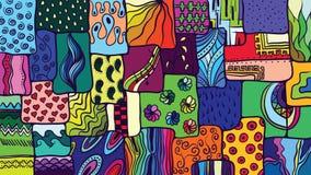 Abstract ontwerp met aardelementen, patroonachtergrond in vect Royalty-vrije Stock Foto