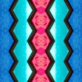 abstract ontwerp met gebrandschilderd glas in aquamarijn, rode en blauwe kleuren, achtergrond en textuur vector illustratie