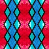 abstract ontwerp met gebrandschilderd glas in blauwe en rode kleuren, achtergrond en textuur vector illustratie