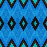 abstract ontwerp met gebrandschilderd glas in blauwe kleuren, achtergrond en textuur royalty-vrije illustratie