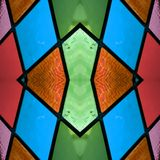 abstract ontwerp met gebrandschilderd glas in diverse kleuren, achtergrond en textuur vector illustratie