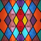 abstract ontwerp met gebrandschilderd glas in diverse kleuren, achtergrond en textuur stock illustratie