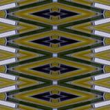 abstract ontwerp met glasblokken in witte, bruine en groene kleuren, achtergrond en textuur royalty-vrije illustratie