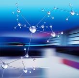 Abstract ontwerp met molecules vector illustratie