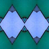 abstract ontwerp met ondoorzichtig glas in groene en blauwe kleuren, achtergrond en textuur royalty-vrije illustratie