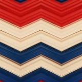 abstract ontwerp met stukken plasticinebars in blauw, wit en rode kleuren, achtergrond en textuur Royalty-vrije Stock Afbeelding