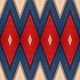 abstract ontwerp met stukken plasticinebars in blauw, wit en rode kleuren, achtergrond en textuur Stock Afbeelding