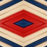 abstract ontwerp met stukken plasticinebars in blauw, wit en rode kleuren, achtergrond en textuur Stock Foto's