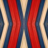 abstract ontwerp met stukken plasticinebars in blauw, wit en rode kleuren, achtergrond en textuur Stock Fotografie