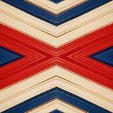 abstract ontwerp met stukken plasticinebars in blauw, wit en rode kleuren, achtergrond en textuur Stock Afbeeldingen