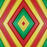 abstract ontwerp met stukken plasticinebars in groen, geel en rode kleuren, achtergrond en textuur Stock Foto's