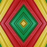 abstract ontwerp met stukken plasticinebars in groen, geel en rode kleuren, achtergrond en textuur Stock Fotografie