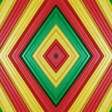 abstract ontwerp met stukken plasticinebars in groen, geel en rode kleuren, achtergrond en textuur Royalty-vrije Stock Foto