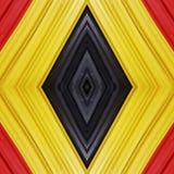 abstract ontwerp met stukken plasticinebars in zwart, geel en rode kleuren, achtergrond en textuur Royalty-vrije Stock Foto's