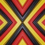 abstract ontwerp met stukken plasticinebars in zwart, geel en rode kleuren, achtergrond en textuur Royalty-vrije Stock Foto