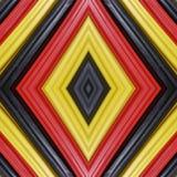 abstract ontwerp met stukken plasticinebars in zwart, geel en rode kleuren, achtergrond en textuur Stock Foto