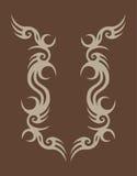 Abstract ontwerp op bruin Royalty-vrije Stock Afbeeldingen