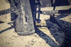 Abstract ontwerp van deel een oude molen Stock Afbeelding