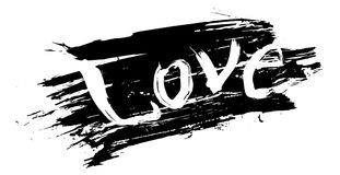 Abstract ontwerp van van letters voorzien en achtergrond gemaakt met handen van inkt royalty-vrije illustratie