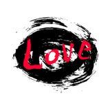 Abstract ontwerp van van letters voorzien en achtergrond gemaakt met handen van inkt Stock Afbeelding