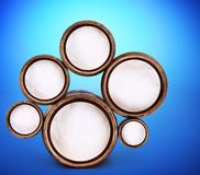 Abstract ontwerp van ronde vormen Stock Afbeeldingen
