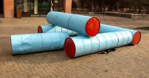 Abstract ontwerp van vaten, reservoirs royalty-vrije stock foto