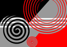 Abstract ontwerp zwart-grijs-rood. Stock Fotografie