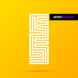 Abstract ontwerpelement op heldere gele achtergrond EPS10 Royalty-vrije Stock Afbeelding