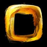 Abstract ontwerpelement. Vierkant die kader met borstel wordt geschilderd Stock Afbeeldingen