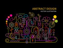 Abstract Ontwerpneon royalty-vrije illustratie