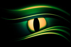 Abstract oog als achtergrond stock illustratie