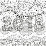 Abstract oostelijk patroon vector illustratie