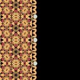Abstract oosters flayermalplaatje Heel wat Royalty-vrije Stock Afbeeldingen