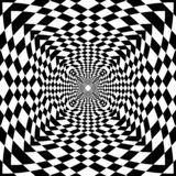 Abstract op art black and white geometrict pattern background royalty free illustration