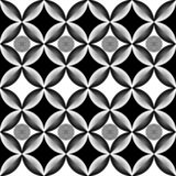 Abstract op art circle black and white pattern vector illustration