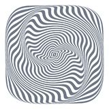 Abstract op art design element. Lines texture. Vector illustration Royalty Free Stock Image