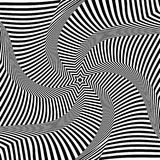 Abstract op art design. Illusion of torsion movement. Abstract op art design. Illusion of rotation, torsion and twisting movement. Vector illustration Royalty Free Stock Photography