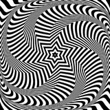 Abstract op art design. Illusion of torsion movement. Abstract op art design. Illusion of rotation, torsion and twisting movement. Vector illustration Stock Photos