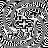Abstract op art design. Illusion of torsion movement. Abstract op art design. Illusion of rotation, torsion and twisting movement. Vector illustration Royalty Free Stock Photos