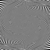 Abstract op art design. Illusion of torsion movement. Abstract op art design. Illusion of rotation and torsion movement. Vector illustration Royalty Free Stock Photo