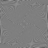 Abstract op art design. Illusion of torsion movement. Vector illustration Royalty Free Stock Images