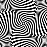 Abstract op art design. Torsion movement. Abstract op art design. Illusion of torsion movement. Vector illustration Stock Photography