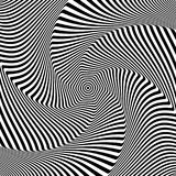Abstract op art design. Illusion of vortex movement. Vector illustration Royalty Free Stock Photography