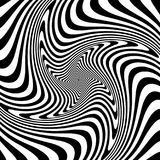 Abstract op art design. Illusion of whirl movement. Vector illustration Stock Photography