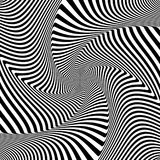 Abstract op art design. Illusion of whirl movement. Vector illustration Royalty Free Stock Photography