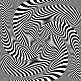 Abstract op art design. Illusion of whirlpool movement. Vector illustration Stock Images